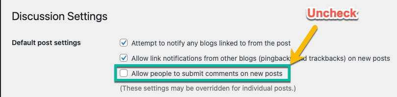 Membuat Web App Menggunakan WordPress - Disable Comments