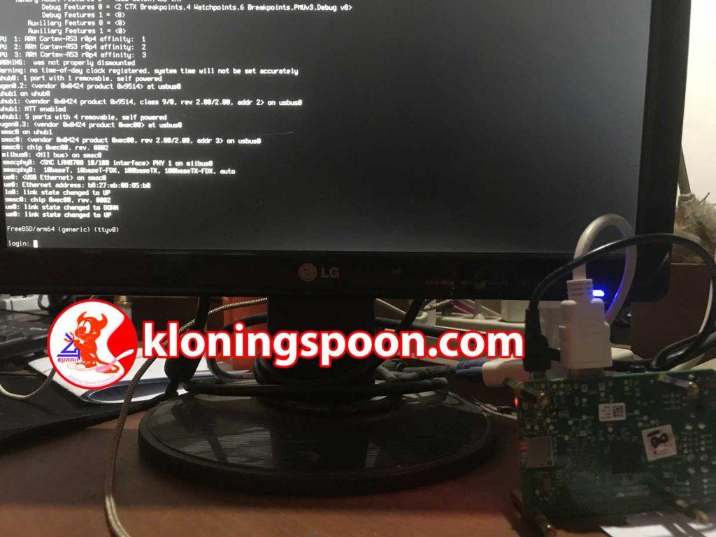 Install FreeBSD di Raspberry Pi - Login