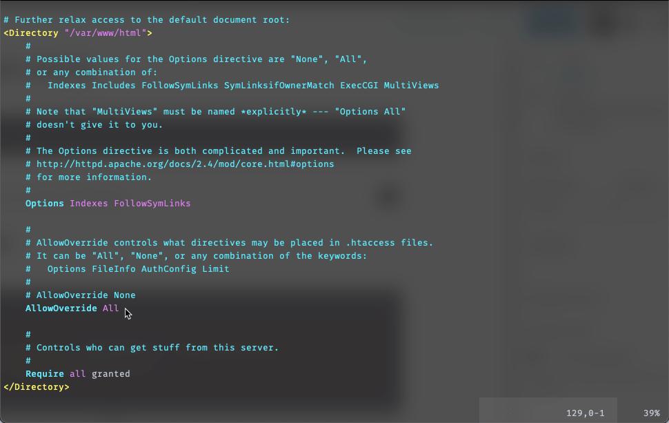 Centos: Install WordPress di LAMP dengan SELinux - Setting Apache mod_rewrite